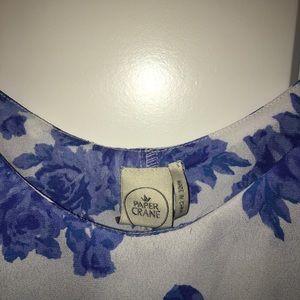 Paper Crane Tops - Floral tank top